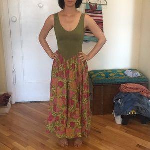 Vintage - esk Long summer/ fall dress